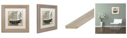 "Trademark Global Color Bakery 'Paris Bath II' Matted Framed Art - 11"" x 11"""