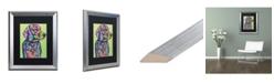 """Trademark Global Dean Russo 'Hank B 19' Matted Framed Art - 16"""" x 20"""""""