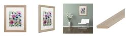 """Trademark Global Carrie Schmitt 'Wild Flowers' Matted Framed Art - 16"""" x 20"""""""