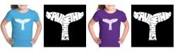 LA Pop Art Girl's Word Art T-Shirt - Save The Whales