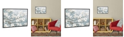 """iCanvas Dogwood Blossoms Ii in Blue Gray Crop by James Wiens Gallery-Wrapped Canvas Print - 26"""" x 40"""" x 0.75"""""""