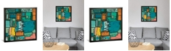 """iCanvas Dont Stop The Music by Leah Nadeau Gallery-Wrapped Canvas Print - 18"""" x 18"""" x 0.75"""""""