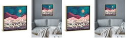 """iCanvas Magenta Mountain by Spacefrog Designs Gallery-Wrapped Canvas Print - 37"""" x 37"""" x 0.75"""""""