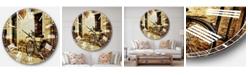 Designart Landscape Photo Oversized Round Metal Wall Clock