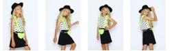 Lanoosh Big Girls Fun 3D Flap Scallop Contrast Detail Top
