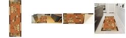 """Ottomanson Sara'S Kitchen Non-Slip Rubber Runner Mat, 20"""" x 59"""""""