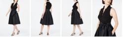 Jessica Howard Ruffled-Collar Fit & Flare Dress