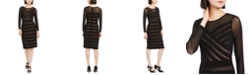 Adrianna Papell Semi-Sheer Mesh Dress