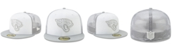 New Era Jacksonville Jaguars White Cloud Meshback 59FIFTY Cap