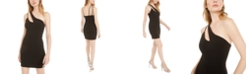 B Darlin Juniors' One-Shoulder Cutout Sheath Dress, Created for Macy's