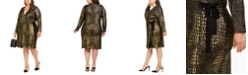 INC International Concepts INC Plus Size Metallic Animal-Print Dress, Created for Macy's