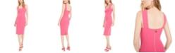 Betsey Johnson Square-Neck Midi Sheath Dress