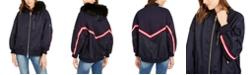 A|X Armani Exchange Armani Exchange Faux-Fur-Tim Hooded Bomber Jacket