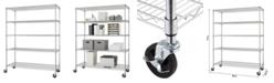 TRINITY Basics Ecostorage 5-Tier Wire Shelving Rack with NSF Includes Wheels