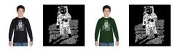 LA Pop Art Boy's Word Art Long Sleeve T-Shirt - Astronaut