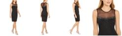 Calvin Klein Beaded Illusion Sheath Dress