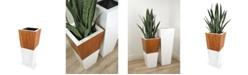 """Le Present Lux Natura Fiberglass Planter 28"""""""