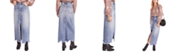 Free People Rhiannon Maxi Jean Skirt