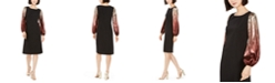 MSK Sequin-Sleeve Dress