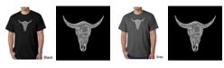 LA Pop Art Men's Word Art T-Shirt - Cowskull Country Hits