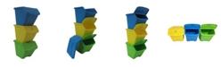 TAURUS 10 Gallon Stackable Shutter Bin 3 Piece Set