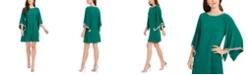 MSK Rhinestone Bell-Sleeve Dress