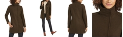 Cole Haan Asymmetrical Snap-Closure Coat