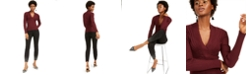 INC International Concepts I.N.C. Ribbed Surplice Sweater & Embellished Skinny Jeans, Created For Macy's