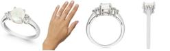 Macy's Opal (3/4 ct. t.w.) & Diamond (1/10 ct. t.w.) Ring in 14k White Gold