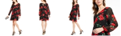 INC International Concepts INC Rose-Print Chiffon Bow-Back Dress, Created for Macy's