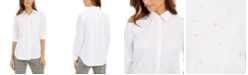 Charter Club Faux-Pearl Shirt, Created For Macy's