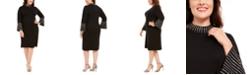 Calvin Klein Plus Size Bling Mock-Neck Dress