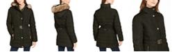 Michael Kors Faux Fur Trim Hooded Down Coat, Created For Macy's
