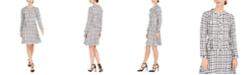 julia jordan Tweed A-Line Jacket Dress