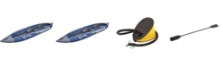 Northlight 13' Inflatable 2-Person Zray Tortuga 400 Kayak with Paddles and Foot Pump