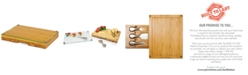 Picnic Time Toscana® by Concerto Glass Top Cutting Board with Cheese Tools