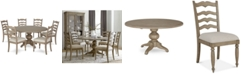 Furniture Ellan Round Dining Furniture, 7-Pc. Set (Table & 6 Side Chairs), Created for Macy's