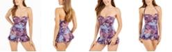 Lauren Ralph Lauren Captiva Paisley Strapless Underwire Tummy-Control Swimdress