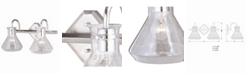 Vaxcel Curie Satin Nickel Clear Seeded Glass Jar 2 Light Bathroom Vanity Fixture