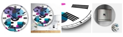 "Designart Out of Focus Oversized Mid-Century Wall Clock - 36"" x 28"" x 1"""