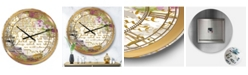 "Designart with Love From Paris 1 Large Traditional Wall Clock - 36"" x 28"" x 1"""