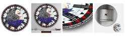 "Designart Urban Girl Mandala Large Modern Wall Clock - 36"" x 28"" x 1"""