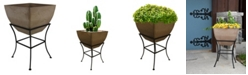 """RTS Home Accents 20"""" Square Planter with Stand"""
