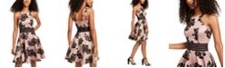 City Studios Juniors' Flocked-Velvet Dress