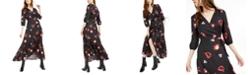 Bar III Printed Jacquard Wrap Maxi Dress, Created For Macy's
