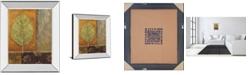"""Classy Art Copper Leaf by Viola Lee Mirror Framed Print Wall Art, 22"""" x 26"""""""