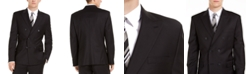 Calvin Klein Men's Slim-Fit Infinite Stretch Black Double-Breasted Suit Jacket
