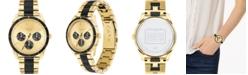 COACH Women's Preston Gold-Tone & Black Bracelet Watch 36mm