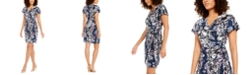 INC International Concepts INC Petite Floral-Print Wrap Dress, Created For Macy's