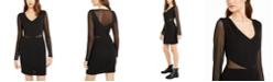 Teeze Me Juniors' Scuba Mesh Dress